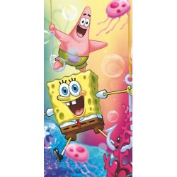 Jerry Fabrics fürdőlepedő - Sponge Bob és Patrick - 140 x 70
