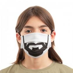 Luanvi újrahasználható szájmaszk - szakáll - 3 db - M méret