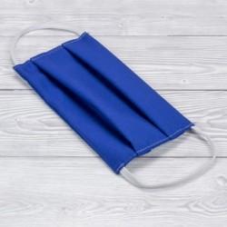 Pamut szájmaszk gumival - kék