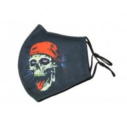Textil többhasználatos szájmaszk - Skull cap
