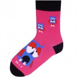 WiTSocks női zokni - baglyok magenta