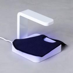 Fertőtlenítő feltölthető UV-lámpa 146671 - integrált vezeték nélküli töltővel - fehér
