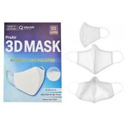 Pro Air antibakteriális többhasználatos szájmaszk - 3D design-nal - fehér