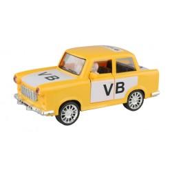 Trabant 601 retró autó - közbiztonság logóval - lendkerékkel - 18 cm