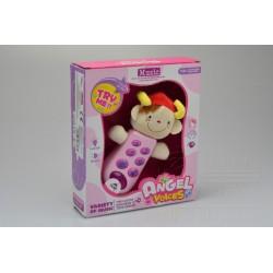 Gazelo gyerek telefon - hangokkal és villogással - rózsaszín