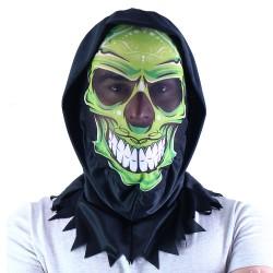 Rappa maszk koponya mintával - textil