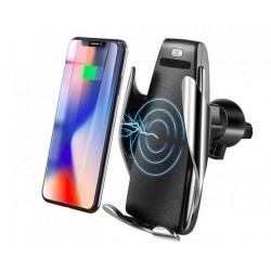Érintésmentes 2 az 1-ben mobiltartó érzékelővel és vezeték nélküli töltéssel