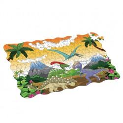 Rappa dinoszauruszos puzzle - 208 db - 90 x 64 cm