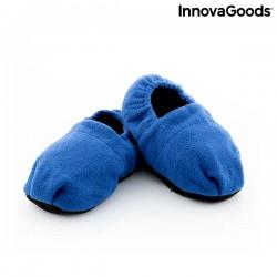 InnovaGoods mikróban melegíthető benti papucs - kék