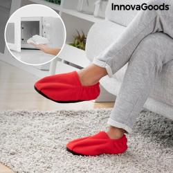 InnovaGoods mikróban melegíthető benti papucs - piros