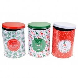 Pléhdobozok karácsonyi édességekre - 3 db