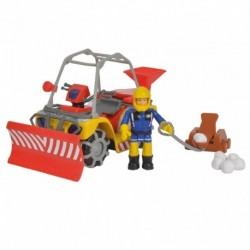 Simba Mercury téli tűzoltó négykerekű - figurával - Sam, a tűzoltó