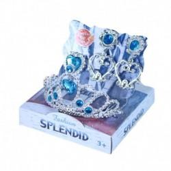 Rappa hercegnő korona és fülbevaló - kék