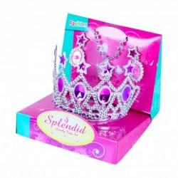 Rappa hercegnői korona fülbevalóval - rózsaszín