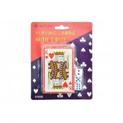 Kártya kockákkal