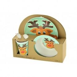 Excellent Houseware gyerek étkészlet - rénszarvassal - 5 db