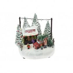 Karácsonyi dísz - faárus - világító - 17 cm