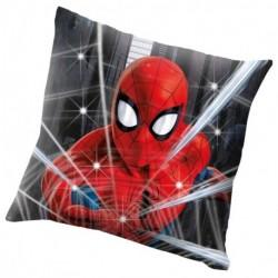 Euroswan világító LED párna - Spiderman - 40 x 40 cm - poliészter