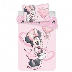 Jerry Fabrics gyerek pamut ágyneműhuzat - Minnie Pink Heart Baby - 100 x 135