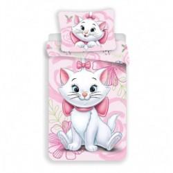 Jerry Fabrics mikroszálas ágyneműhuzat - Marie cica Pink 02 - 140 x 200