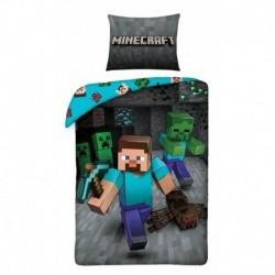 Halantex pamut ágyneműhuzat - Minecraft Steve - 140 x 200