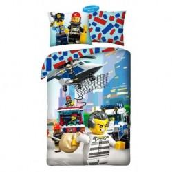 Halantex pamut ágyneműhuzat - Lego rendőrség - 140 x 200