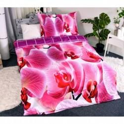 3D ágyneműhuzat - Orchidea - 140 x 200 - poliészter