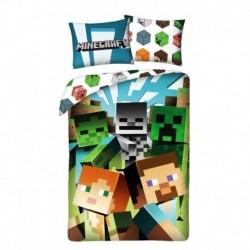 Halantex pamut ágyneműhuzat - Minecraft Alex és Steve - 140 x 200