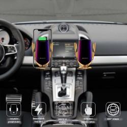 Lux R1 2in1 vezeték nélküli töltő és tartó az autóba - arany