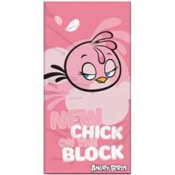 Halantex törölköző - Angry Birds - Stella - rózsaszín - 140 x 70 cm