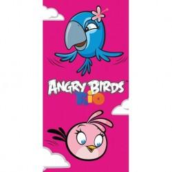 Carbotex törölköző - Angry Birds - Rio, Stella és Perla - 140 x 70 cm