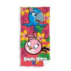 Carbotex törölköző - Angry Birds - Rio - rózsaszín - 140 x 70 cm