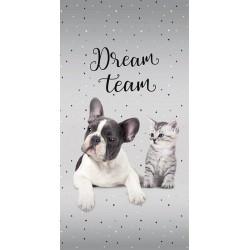 Detexpol törölköző - Kutya és macska - Dream Team - 140 x 70 cm