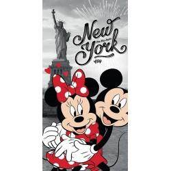 Jerry Fabrics törölköző - Mickey és Minnie New Yorkban - 140 x 70 cm
