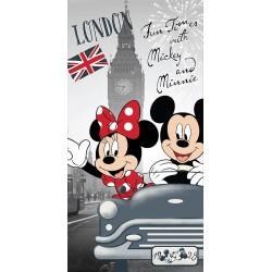Jerry Fabrics törölköző - Mickey és Minnie Londonban - 140 x 70 cm