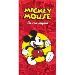 Euroswan törölköző - Mickey Mouse - piros - 150 x 75 cm