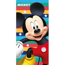 Jerry Fabrics törölköző - Mickey Mouse - színes csíkok - 140 x 70 cm