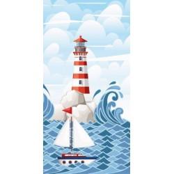 Faro törölköző - Tenger és világítótorony - 140 x 70 cm