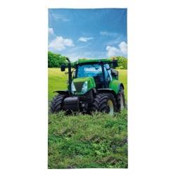 Detexpol törölköző - Zöld traktor - 140 x 70 cm
