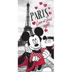 Jerry Fabrics törölköző - Mickey és Minnie Párizsban - 140 x 70 cm