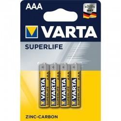 Varta Superlife R03 széncink elem  - 4x AAA - bliszter