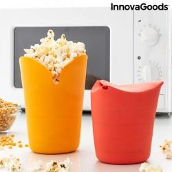 InnovaGoods Popbox szilikon összecsukható edények pattogatott kukoricához - 2 db