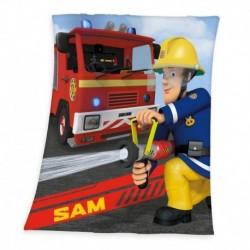 Herding gyerek polár pléd - Sam, a tűzoltó - 160 x 130 cm