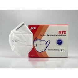 FFP2 NR légzésvédő - 2 db - fehér