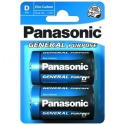 [BAT2D] Panasonic General Purpose R20BE/2BP elem - 1,5 V - 2x D elem - bliszter