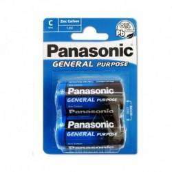 [BAT2C] Panasonic General Purpose R14BE/2BP elem - 1,5 V - 2x C elem - bliszter csomagolás