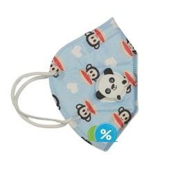 OEM KN95 gyerek légzésvédő légzőszeleppel - 1 db - kék