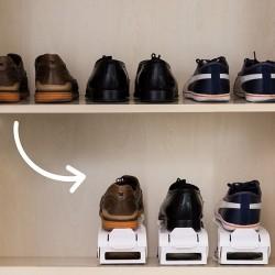 InnovaGoods állítható cipőszekrény - 6 db - fehér