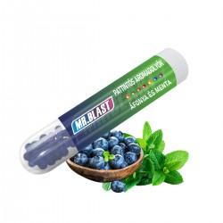 Mr. Blast pattintható aromagolyók - Áfonya és menta - 100 db