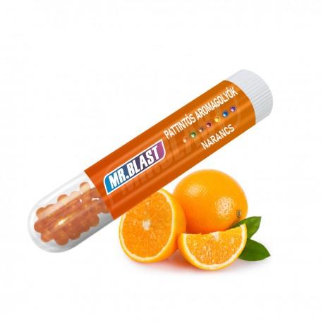 Mr. Blast pattintható aromagolyó - Narancs - 100 db
